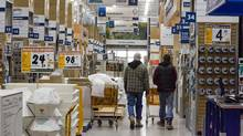 Shoppers at Rona at Dix30 in Brossard, Quebec on April 8, 2008. For Business. (Christinne Muschi/Christinne Muschi for The Globe and Mail)
