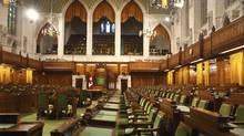 The interior of the House of Commons. Ottawa moves closer to announcing in the spring that the federal budget is balanced. (Thinkstock)