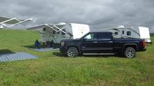The 2014 GMC Sierra is 'built to trailer,' the company says. (Diane Jang)