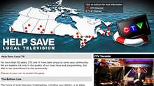 CTV website for Help Save Local Televison campaign.