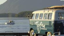 This is a photo of the mobile tourism centre in Tofino. Photo provided by Tourism Tofino.