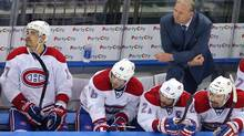 Montreal Canadiens head coach Michel Therrien on the bench during the third period (Brad Penner/USA TODAY Sports)