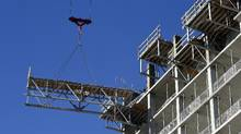 Construction of a condominium project in Toronto is seen in this file photo. (Fred Lum/The Globe and Mail)