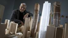 Gehry's towers will bring softer, organic shapes to Toronto's skyline. (Peter Power/The Globe and Mail)