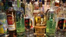 Bottles of cachaca at a restaurant in New York. (ROBERT PRESUTTI/NYT)