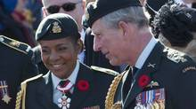 Governor-General Michaëlle Jean and the Prince of Wales on Nov. 11. (Adrian Wyld/The Canadian Press)