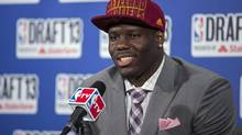 Canadian Anthony Bennett was selected first by the Cleveland Cavaliers in the NBA draft. (Craig Ruttle/AP)