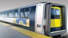 BMW Group DesignworksUSA exterior design concept for BART's Fleet of the Future. (BMW)