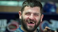 Montreal Canadiens' Alexander Radulov laughs as he talks with reporters in Brossard, Que., Monday, April 24, 2017. (Paul Chiasson/The Canadian Press)