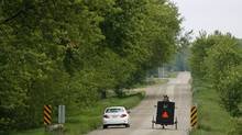 Mennonites in horse-drawn carriages are a common sight in the Waterloo Region. (Peter Power)