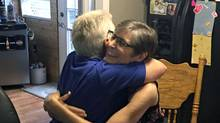 Storm Miller hugs her friend Jo Ann McClure on Aug. 6, shortly before a doctor helped Ms. Miller die at her Courtenay, B.C. home. (Family handout)