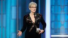 Actress Meryl Streep accepts the Cecil B. DeMille Award on Jan. 8, 2017. (REUTERS)