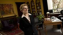 Ontario Premier Kathleen Wynne in her office at the Legislature on April 10, 2013. (Peter Power/The Globe and Mail)