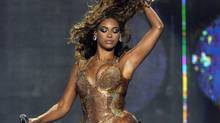 Singer Beyonce Knowles performs at Madison Square Garden in New York.