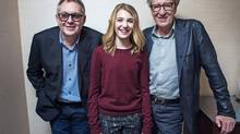 Director Brian Percival, left, auditioned 1,000 girls before choosing Sophie Nélisse to co-star with Geoffrey Rush. (JENNIFER ROBERTS FOR THE GLOBE AND MAIL)