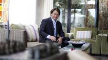 Canadian producer Robert Lantos at his home in Brentwood, Calif. (J. Emilio Flores for The Globe and Mail)