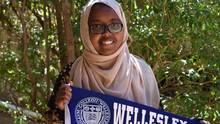 Shukri Ali, one of the nearly 20,000 Scholars studying in The MasterCard Foundation Scholars Program in Africa, Canada, the United States and elsewhere. Her dreams of attending Wellesley College are at risk of falling apart due to President Donald Trump's ban. (Noah Dunn/Abaarso School)
