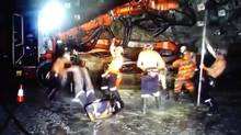 Screen grab from Harlem Shake video created by Australian miners on the job.