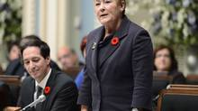 Quebec Premier Pauline Marois addresses the Quebec legislature Oct. 30, 2012. (JACQUES BOISSINOT/THE CANADIAN PRESS)