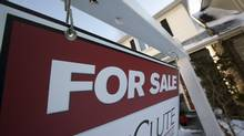 A 'for sale' sign is seen in Toronto's east end. (Deborah Baic/The Globe and Mail)
