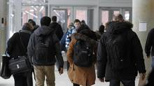 Students at York University's Keele campus in Toronto on Jan. 8, 2014. (Fernando Morales/The Globe and Mail)