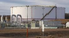 TransCanada's Keystone pipeline facilities are seen in Hardisty, Alta., on Friday, Nov. 6, 2015. (Jeff McIntosh/THE CANADIAN PRESS)