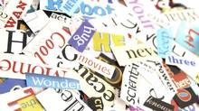 Colorful words cut out from magazines form an attractive background (Jennifer Stone)