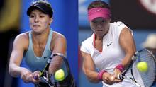 Eugenie Bouchard and Li Na (Associated Press)