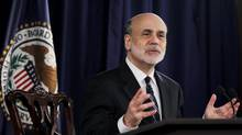 U.S. Federal Reserve chairman Ben Bernanke speaks at a news conference following the monthly two-day meeting at the Federal Reserve in Washington on April 25, 2012. (JASON REED/REUTERS)