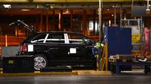 The assembly line at Ford Canada's Oakville plant. (Fred Lum/The Globe and Mail)
