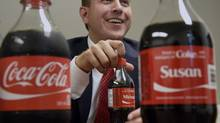 Coke vice-president Michael Samoszeswski is shown in this June 24 photo. Mr. Samoszeswski says the company hopes Canadians will think of someone they want to share a Coke with and go find a bottle with their name. (Fred Lum/The Globe and Mail)