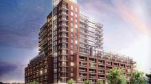 Lanterra's Trevision development is a 15-story building with 390 units,