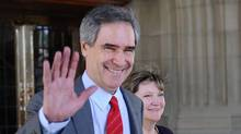 Outgoing Liberal leader Michael Ignatieff exits Parliament Hill after saying goodbye to politics and his party on May 12, 2012. (Sean Kilpatrick/The Canadian Press/Sean Kilpatrick/The Canadian Press)