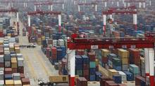 A general view of a shipping container area at Yangshan Port of Shanghai on Friday, May 11, 2012. (ALY SONG/REUTERS)