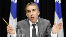 Quebec's Finance Minister Nicolas Marceau is pictured in March, 2013. Mr. Marceau said the Quebec government will challenge the federal government's proposal to establish a national securities regulator. (MATHIEU BELANGER/REUTERS)