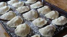 Not only were perogies fundamental for to the nourishment of generations of Ukrainian families, the process of making them provided a social outlet and community building.