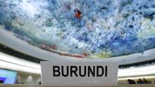The seat of Burundi delegation is pictured before a special session of the Human Rights Council on the situation in Burundi in Geneva, Switzerland on December 17, 2015. (DENIS BALIBOUSE/REUTERS)