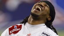 Calgary Stampeders' Larry Taylor faces his old team the Montreal Alouettes in Saturday CFL action . FILE PHOTO: REUTERS/Shaun Best (Shaun Best/Reuters)