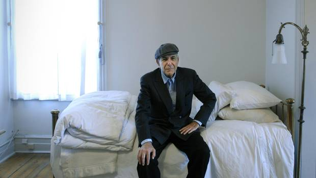 Leonard Cohen is pictured at his home in Montreal, a city that has been both a place to escape and a refuge for the artist.