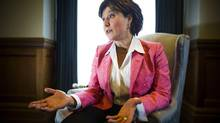 Premier Christy Clark during her year end interview with the Globe and Mail in Victoria December 9, 2013. (John Lehmann/The Globe and Mail)