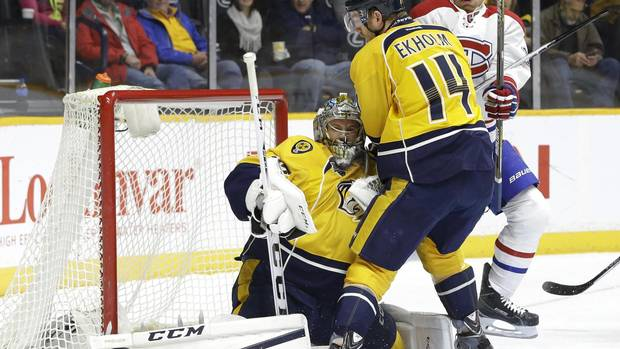 Rinne Makes 35 Saves As Predators Beat Canadiens 5-1