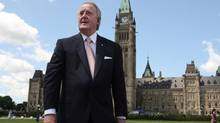 Former prime minister Brian Mulroney leaves Parliament Hill Wednesday June 6, 2012. (Adrian Wyld/THE CANADIAN PRESS)