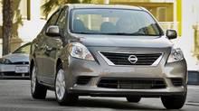 2012 Nissan Versa sedan (Nissan/Nissan)