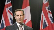 Premier Dalton McGuinty speaks during a news conference after the Auditor-General's report on Ontario's electronic health records agency at Queen's Park on October 7, 2009. (Frank Gunn/The Canadian Press)