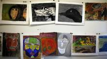 A collection of 47 paintings created by children at the Alberni Indian Residential School, shown on March 26, 2013, was recently discovered during a University of Victoria filed studies class. (CHAD HIPOLITO FOR THE GLOBE AND MAIL)