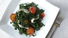 Kale and white anchovy salad (Peter Power/The Globe and Mail)