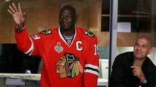 Former basketball player Michael Jordan attends Game Five of the 2010 NHL Stanley Cup Final between the Philadelphia Flyers and the Chicago Blackhawks at the United Center on June 6, 2010 in Chicago, Illinois. (Photo by Jim McIsaac/Getty Images) (Jim McIsaac/2010 Getty Images)