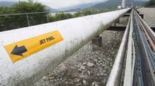 A pipeline is pictured at the Kinder Morgan Trans Mountain Expansion Project in Burnaby, British Columbia, Thursday, June 4, 2015. (JONATHAN HAYWARD/The Canadian Press)