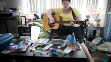 Eireann Day, who has schizophrenia, says her condition has stabilized since she moved into her own apartment in Vancouver. (John Lehmann/The Globe and Mail)