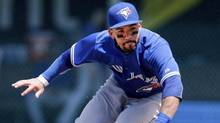 Toronto Blue Jays' Devon Travis was honoured as the American League rookie of the month last April, when he hit for a .325 average with six home runs, six doubles and 19 runs batted in. (Orlin Wagner/THE ASSOCIATED PRESS)